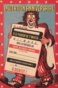 Anniversaire enfants cirque maison